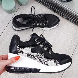 Trampki Czarne Sneakersy Na Systemach 9725