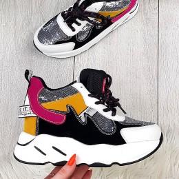Trampki Kolorowe Sznurowane Adidasy 9727