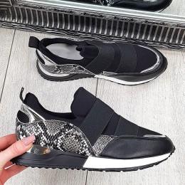 Trampki Czarne Wciągane Adidasy 9666