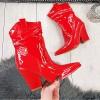 Botki Czerwone Lateksowe Kowbojki 9872