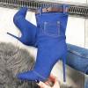 Botki Jeansowe na Szpilce - Czubaszki 9876