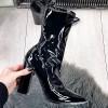 Botki Czarne Lateksowe Czubszki Na Słupku 9884