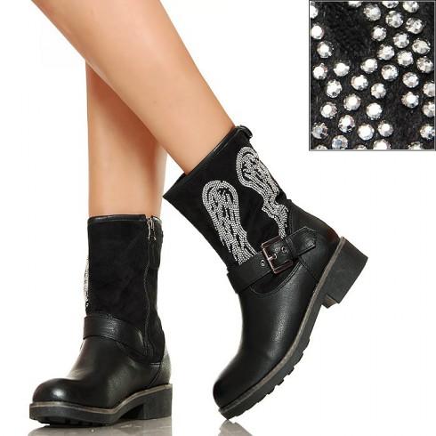 NIE - Worker Boots - Czarne - Srebrne Skrzydła