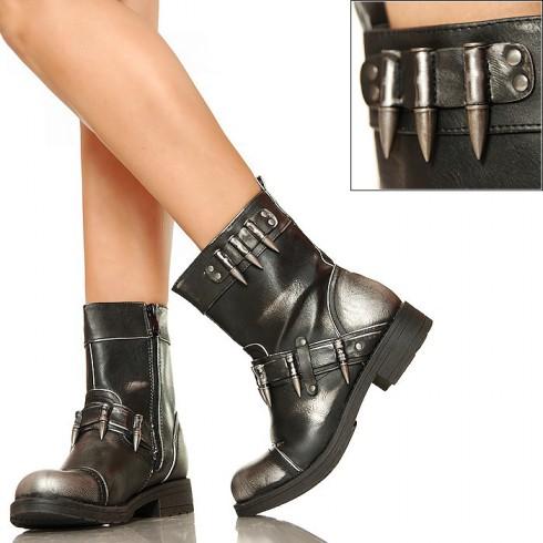 NIE - Przecierane Motocyklówki - Worker Boots
