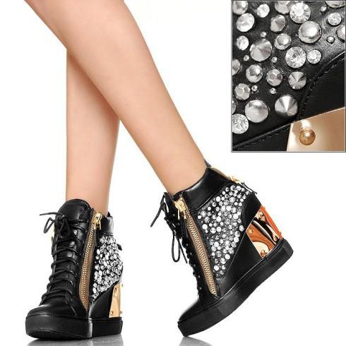 NIE - EXKLUSIV - Hot Glamour - Sneakersy Cyrkonie