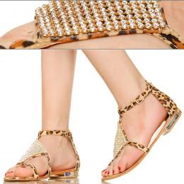 Sandały Seksowna Panterka z Cyrkoniami 2843