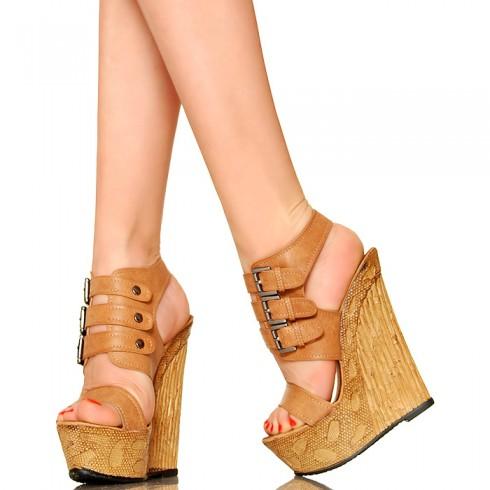 nie - Zgrabne CameLove Koturny - Sandały 3 Klamry