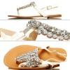 Białe Seksowne Sandały - Duże Cyrkonie