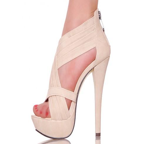 nie - Nude - Drapowane Kuszące Sandały