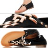 Czarne Japonki - Sandały - Złoty Łańcuch