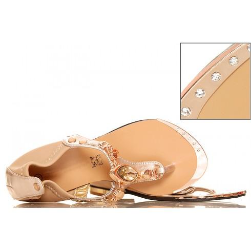 nie - Złote Sandały - Japonki - Duże Kamienie