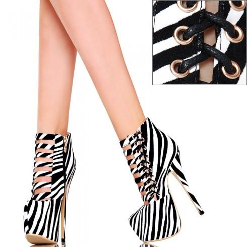 NIE - Botki - Fantastyczna Pleciona Zebra
