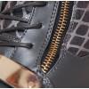 Sneakersy - Stalowe z Wężem Złote Blaszki