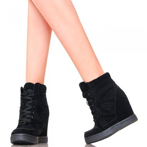 NIE - Sneakersy - Czarne - Ażurowe Wzorki