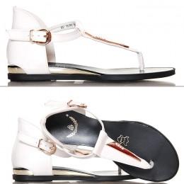 Sandały Damskie Białe Japonki