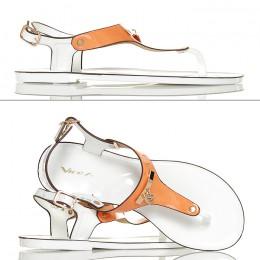 Sandały Japonki Meliski Pomarańczowe 4308