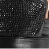 Sneakersy - Czarne Błyszczące Na 3 Rzepy