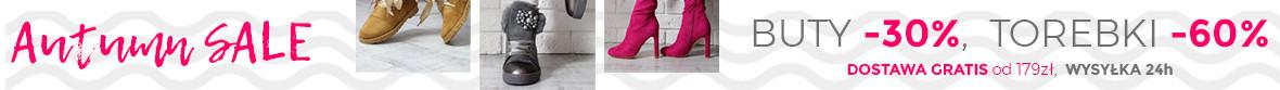 -30% Na wszystkie nowe buty damskie i torebki damskie